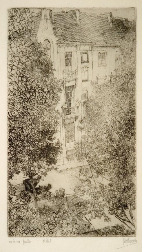 Jules de bruycker etsen eaux fortes etchings j d b for Vu de ma fenetre